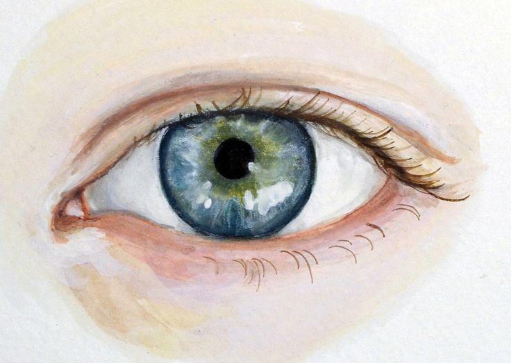 Eye Painting - Custom Eye Portrait - Original Watercolor. $125.00, via Etsy.