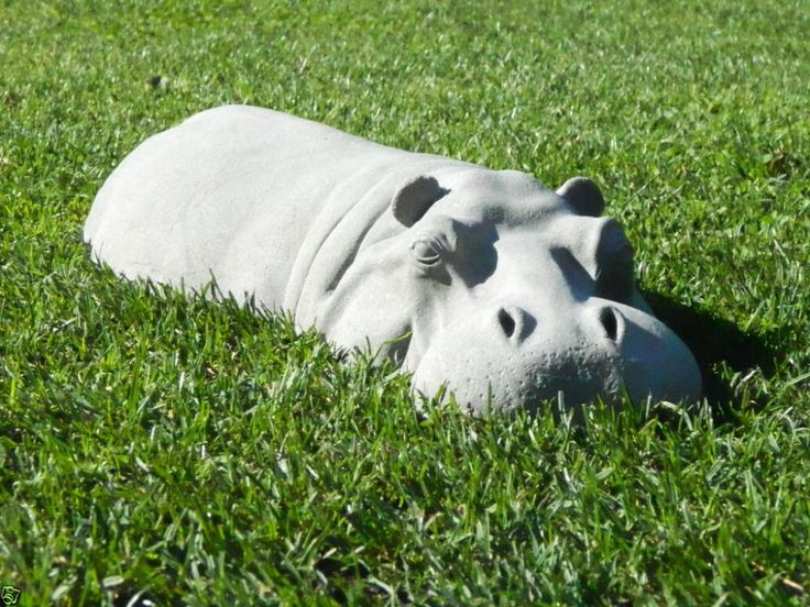 This Hippopotamus Sculpture For Unique Garden Ornament Idea Digital Image,  Is Categorized Within Contemporary Garden