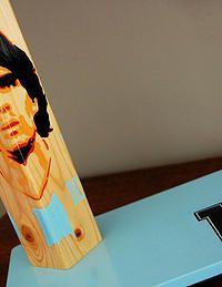 Maradona handmade wooden table lamp