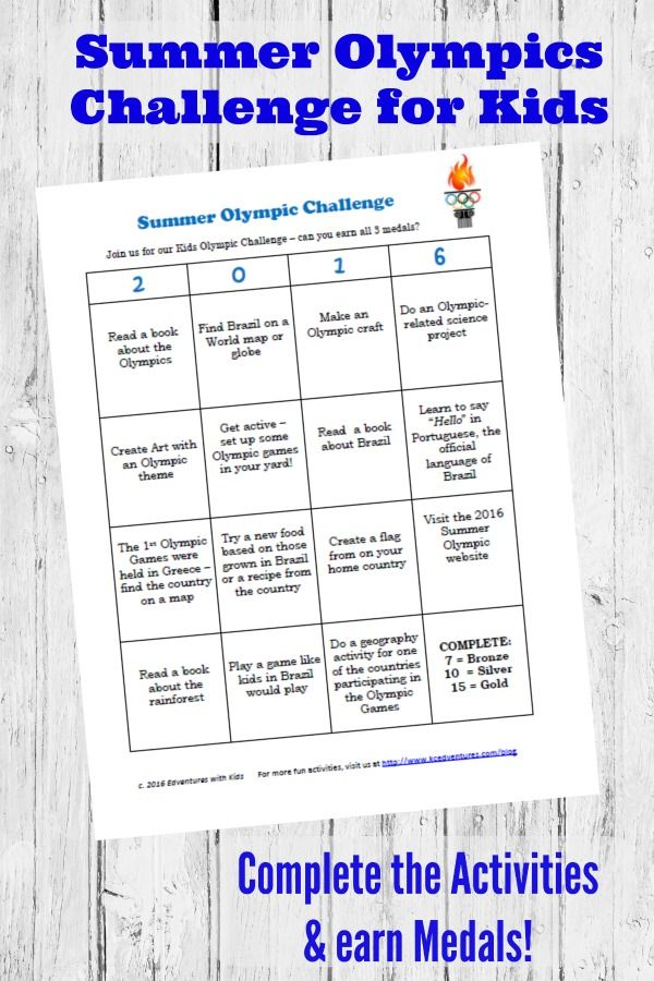 50+ Olympic Activities for Kids (free printable)