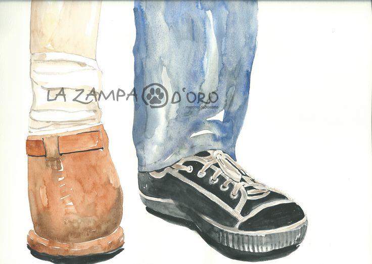 """Ragazzo mutilato da mina antiuomo acquarello su carta, 21 x 29,7 illustrazione per """"Il diario di Sara"""" Roberta Serra 1998 (alias La zampa d'oro)"""