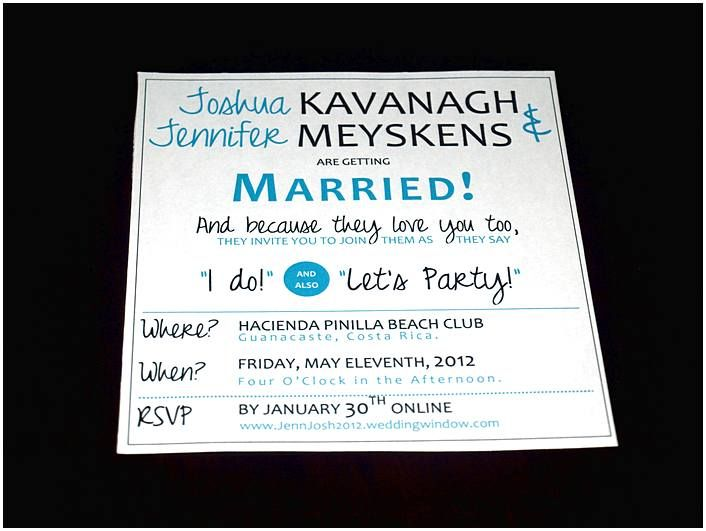 Fun wedding invitations and Save the date