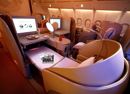 First class flight.....loooooooooooooooooooooove traveling first class!!! LOVE it!
