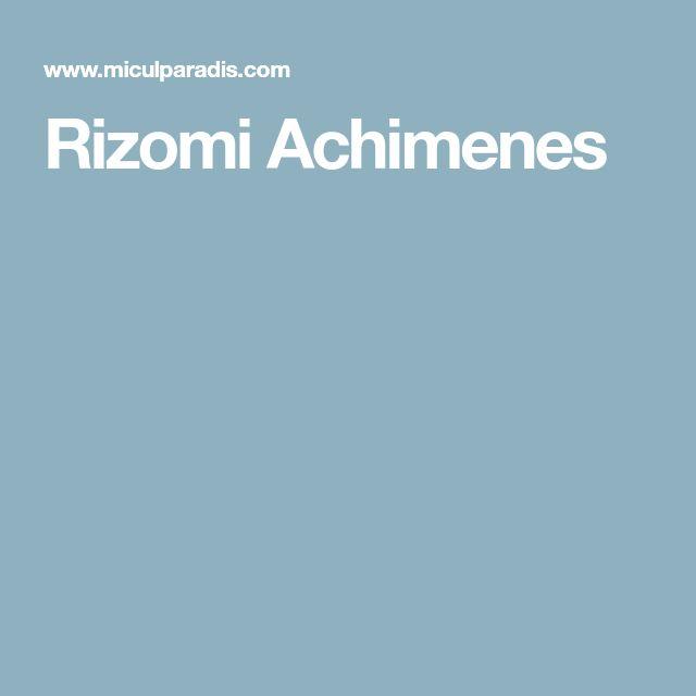 Rizomi Achimenes