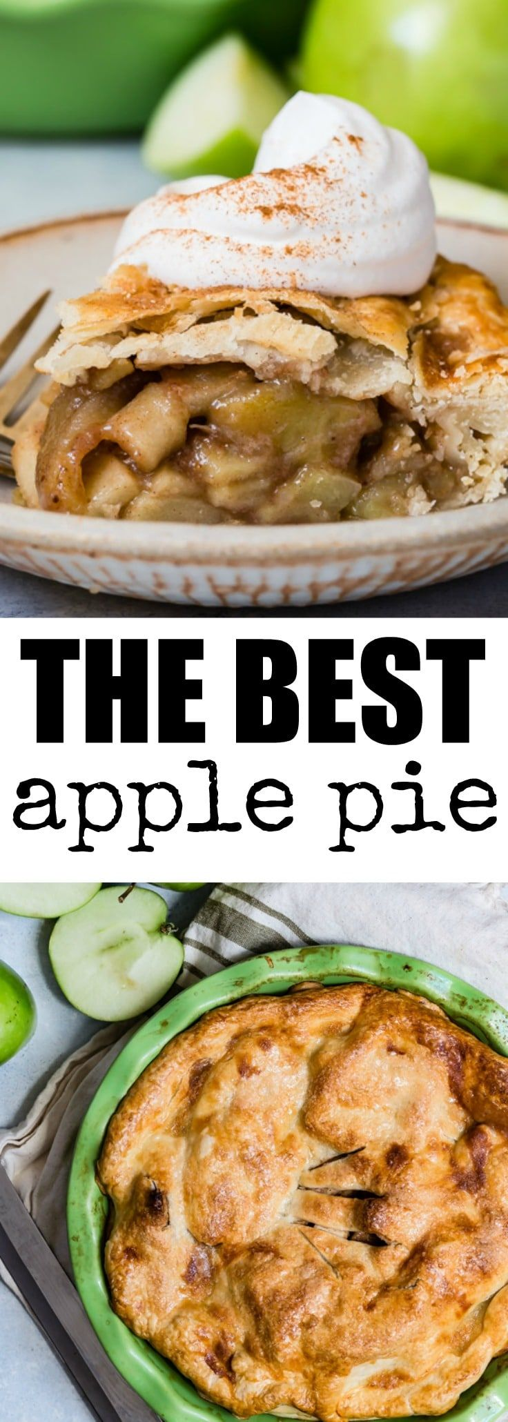 The best Apple Pie is made from simple, delicious ingredients and is ready in just one hour. Buy a pie crust or use my easy homemade pie crust recipe!