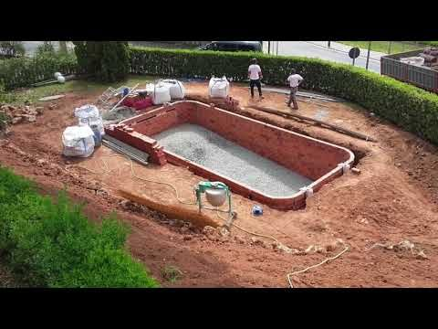 Construcción de piscina de obra paso a paso - Swimming Pool Building Process - YouTube