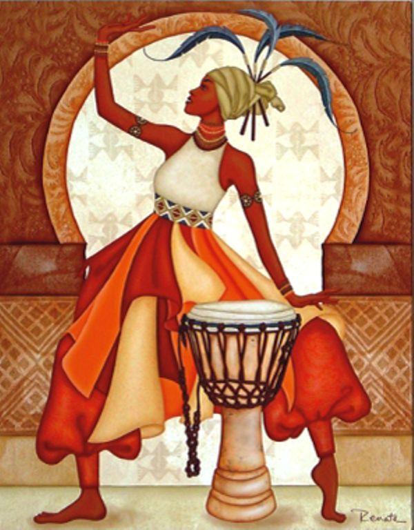 Pintura al oleo de mujeres africanas - Imagui