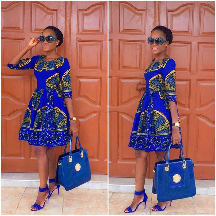 We're in LOVE with this outfit! People will stare, make it worth their while! She looks F-L-A-W-L-E-S-S! Professional, stylish and Elegant! Amazing combiAfrican Fashion: I Love African Print