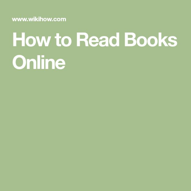 How to Read Books Online