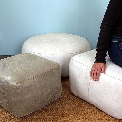 96 best moroccan leather and fabric poufs pouffes ottomans images on pinterest beanbag chair. Black Bedroom Furniture Sets. Home Design Ideas