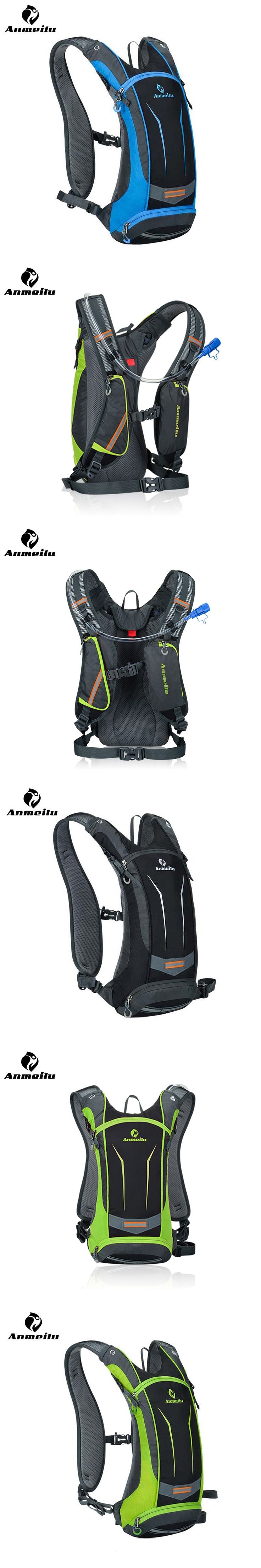 ANMEILU Waterproof MTB Bicycle Bike Bag Mochila Ciclismo 5 Colors Outdoor Sports Cycling Backpack Hydration Pack + 2L Water Bag