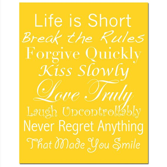 life rules 8x10 print inspirational quotes and sayings