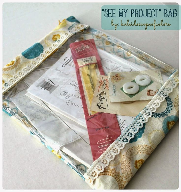 See-Through Project Zipper Bag from @kofcolors - perfect for keeping your sewing projects organized!