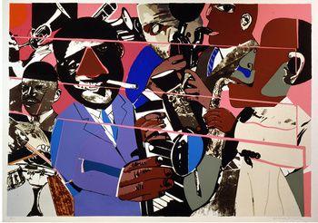 Jazz II Deluxe, Romare Bearden