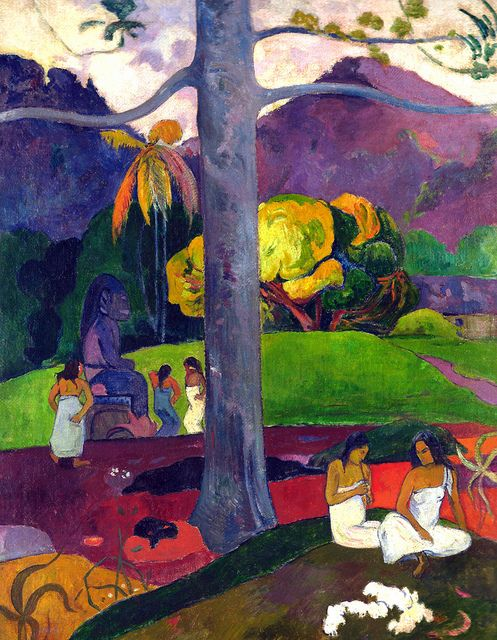 Paul Gauguin - Mata Mua (in Olden Times), 1892 at Museo Thyssen-Bornemisza Madrid Spain