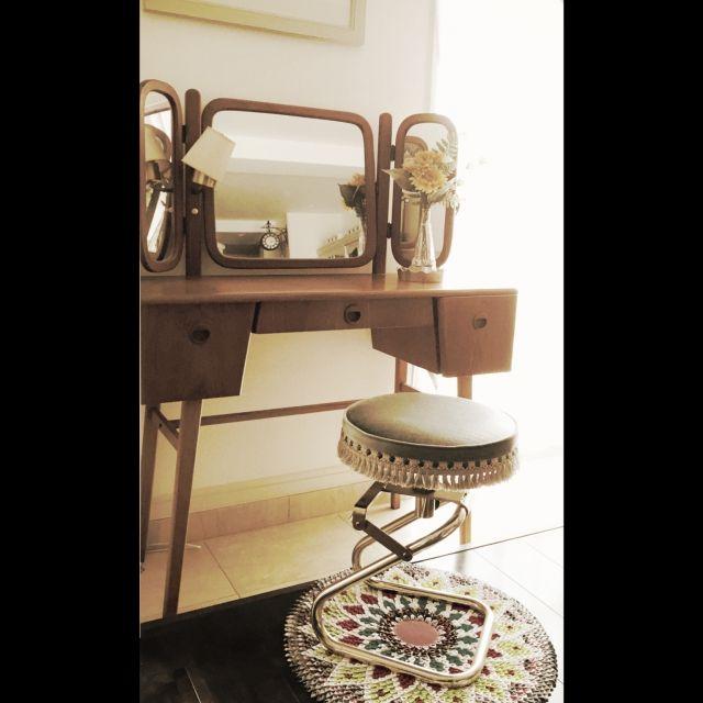 municoさんの、机,北欧ヴィンテージ,オルタナティ部,一人暮らし,ドレッサー,アンティーク,のお部屋写真
