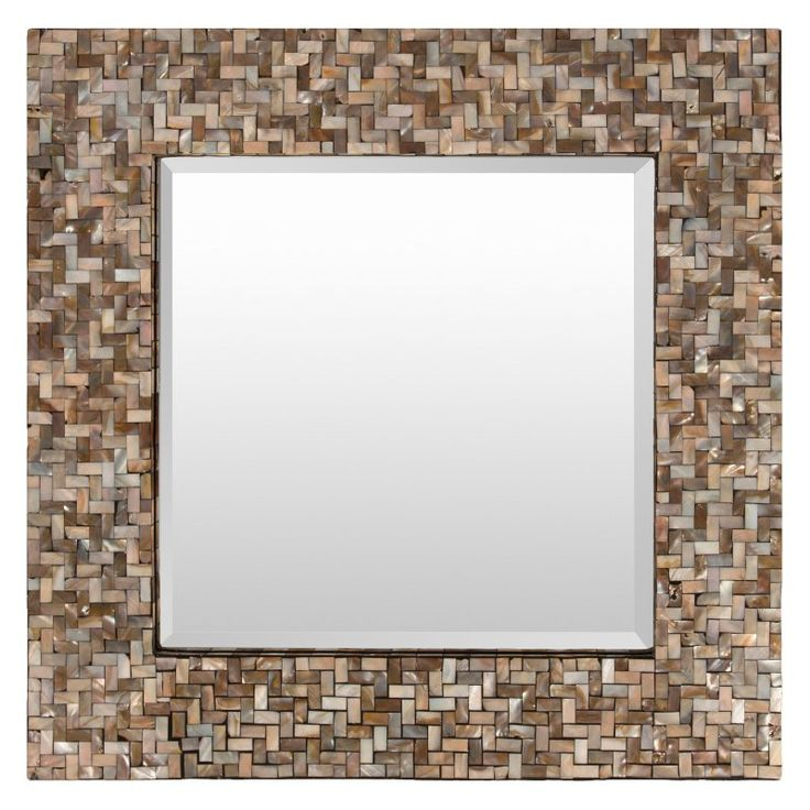 Surya Overton Tropical Mirror - 23.6W x 23.6H in. - OVE-3300
