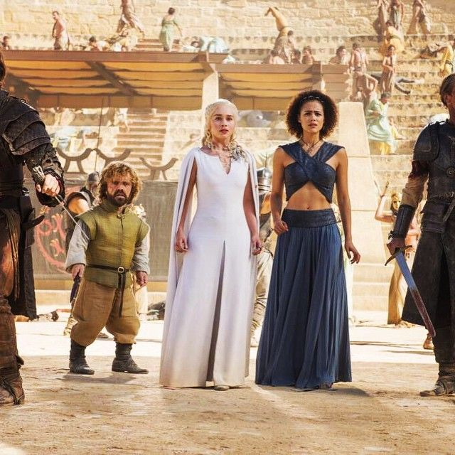 Game of Thrones - Tyrion Lannister, Daenerys Targaryen, and Missandei