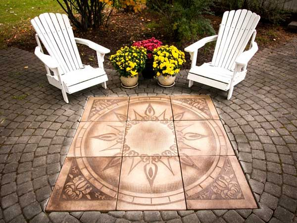 Compass Paver Kit for Patios is such a great way to dress up your patios -LOVE!!!