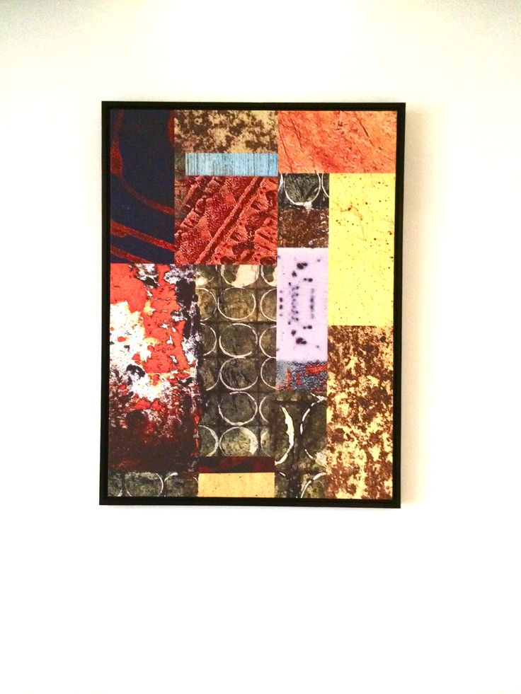 Abstract art feature for guest room corridors.