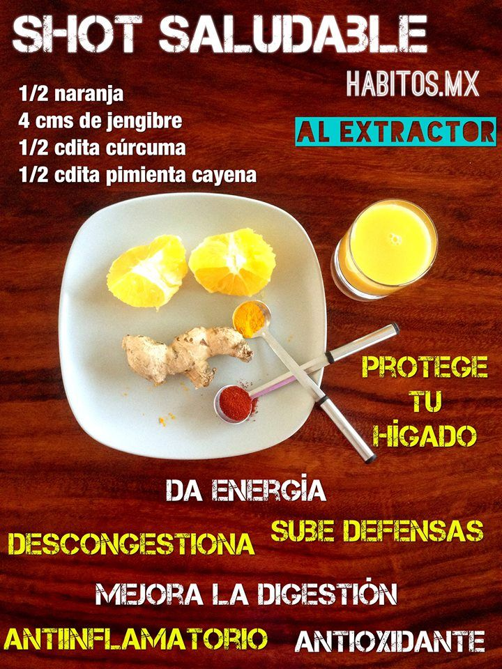 Shot saludable (curcuma)