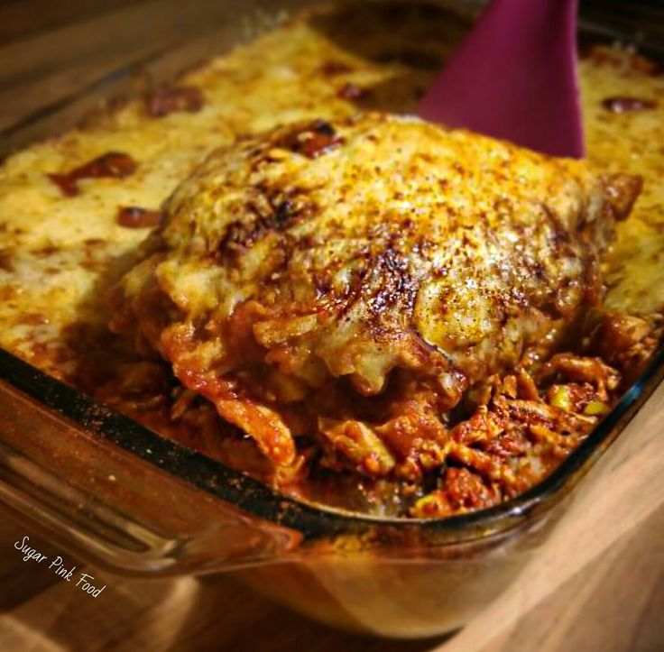 Sugar Pink Food: Slimming World Friendly Recipe - Fully Loaded BBQ Pulled Chicken Casserole