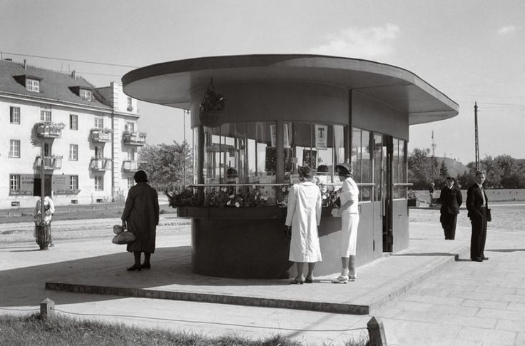 Tramway stop in Wilson Square, destroyed in 1944