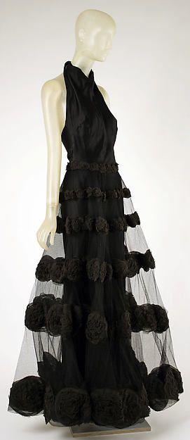 """Black silk """"Carnival Dress,"""" 1936, Madeleine Vionnet (French, Chilleurs-aux-Bois 1876-1975 Paris)"""