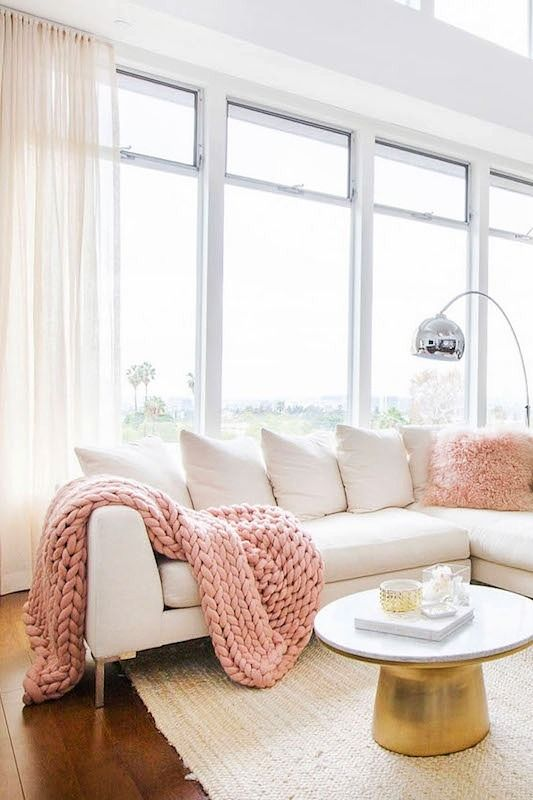 21 Millennial Pink Things For Your Home Youu0027ll Be Obsessed With. Pink Living  RoomsPale Pink BedroomsContemporary ... Part 90