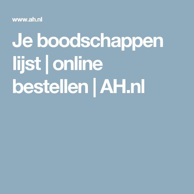 Je boodschappen lijst | online bestellen | AH.nl