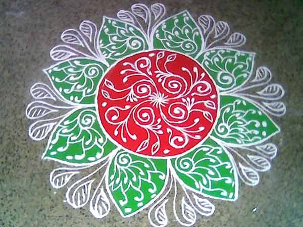 Click on the pic for more designs of rangoli