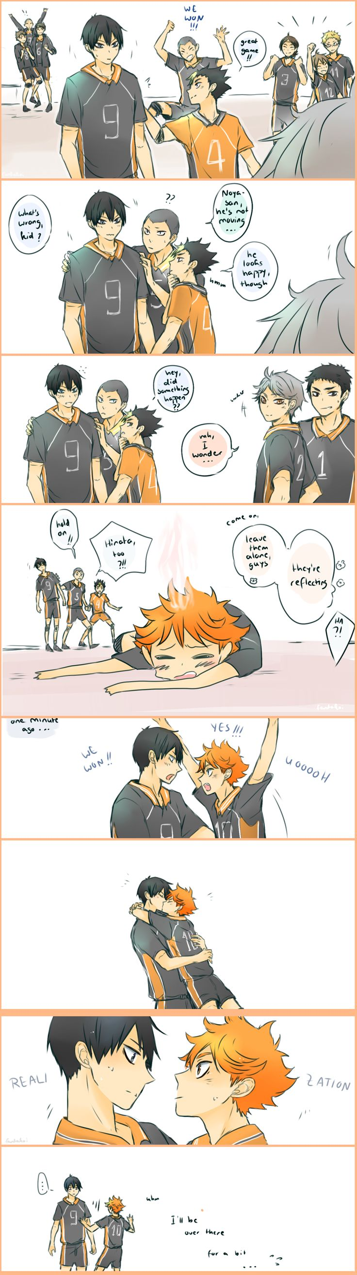 Kagehina Comic full #Kagehina #Kageyama #Tobio #Hinata #Shouyou #doujinshi #Sweet #love #adorable #cute #kawaii #couple #romantic #kiss #shounen #ai #yaoi #Haikyuu #volleyball #anime #manga #story