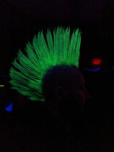 Mohawk glows under the uv light