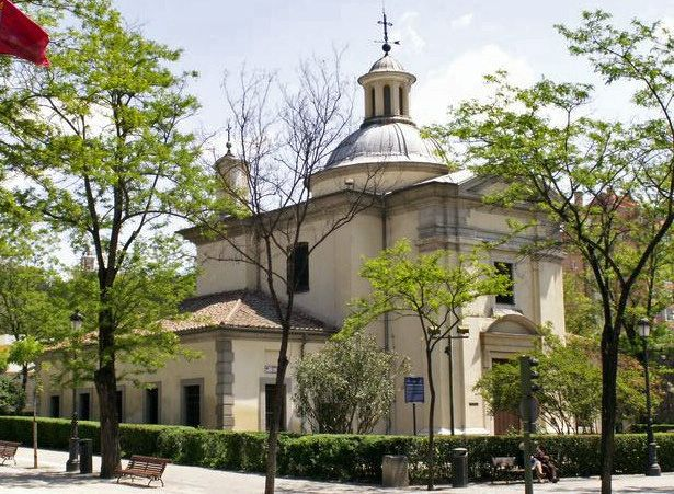 San Antonio de la Florida - The Royal Chapel of St. Anthony of La Florida is a Neoclassical chapel in central Madrid. The chapel is best known for its ceiling and dome frescoes by Goya. It is also his burial place.