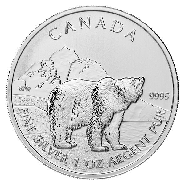 Canadian Silver 1 oz Grizzly Bear 2011 | Golden Eagle Coins