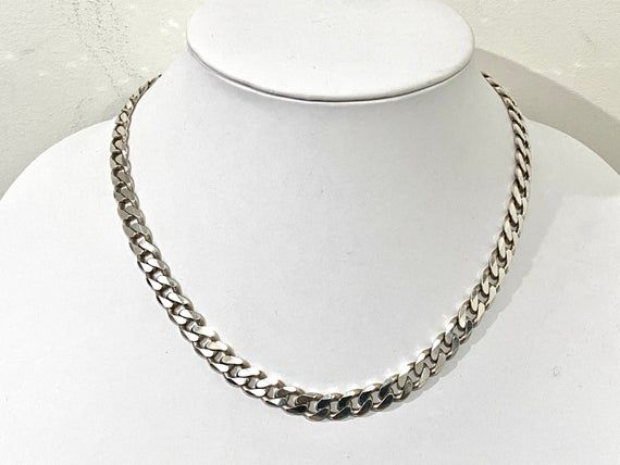 Vintage Steel 20 inch Chain Necklace