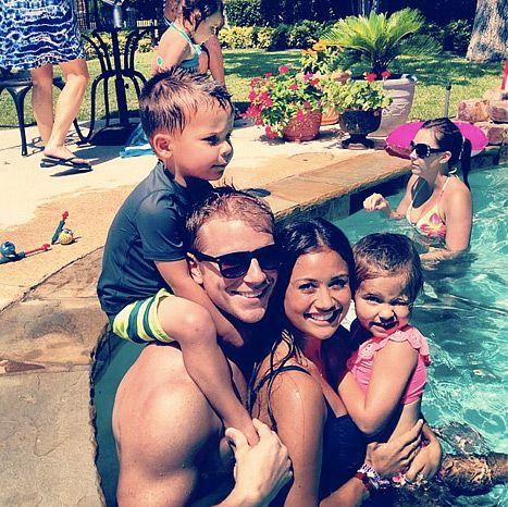 Sean Lowe and Catherine Giudici, enjoying July 4th with Sean's niece Kensington, and nephew Smith.