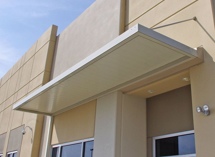 Imperial Marquee Awning with Flat Panels