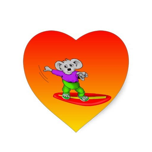 Surfing Purple Koala Sticker by Peter Grayson