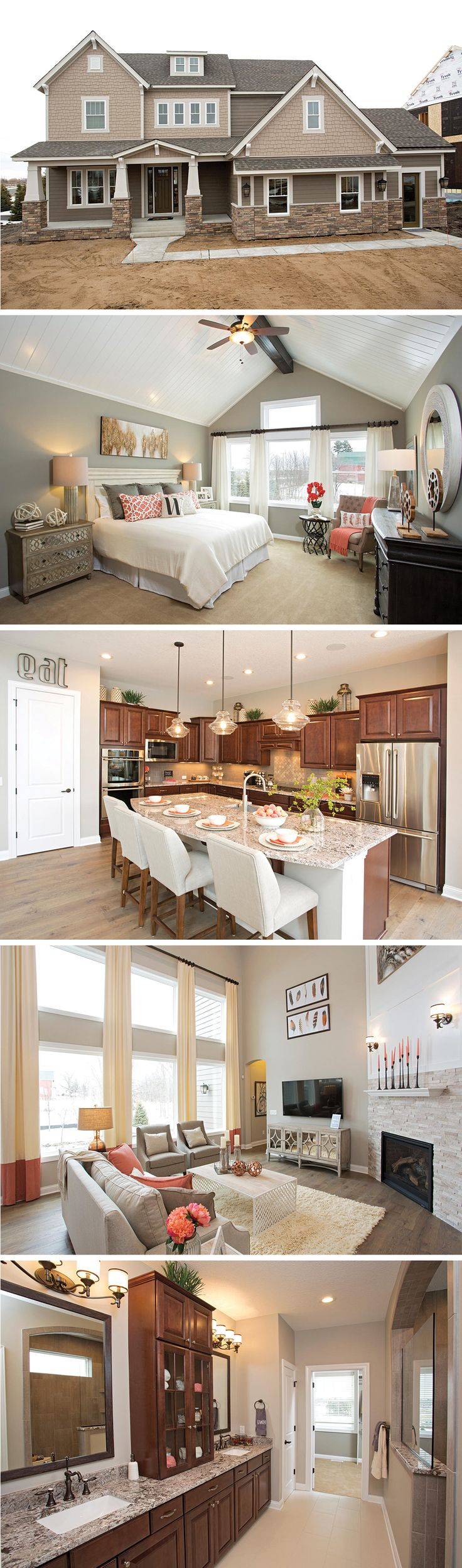 The Hammett by David Weekley Homes in Enclave at Medina is a floorplan featuring high ceilings, a large open kitchen and family room, and a private backyard patio. Custom home upgrades include a covered porch, a sunroom or a freestanding tub in the owners bathroom
