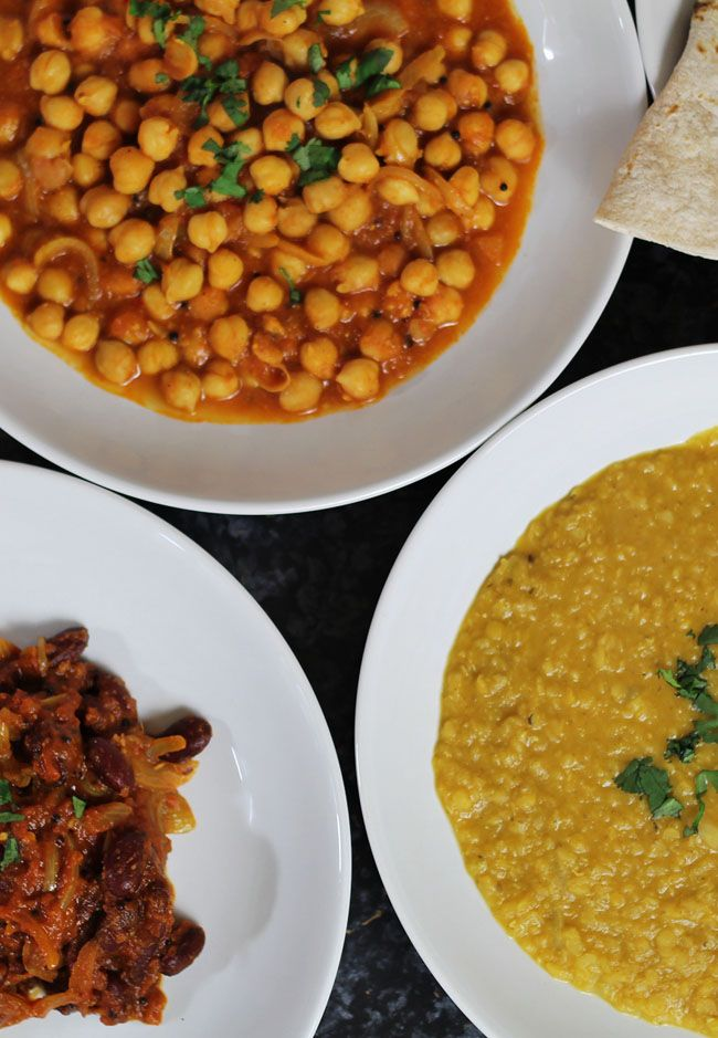 How To Make Three Indian Vegetarian Curries - they can be made vegan. Cheap mid week dinners. Simple recipes.