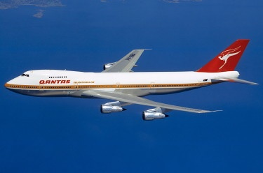 VH-EBA Boeing 747. The first plane I flew in. A few years later, I was working for QANTAS and was reunited with 'EBA'.