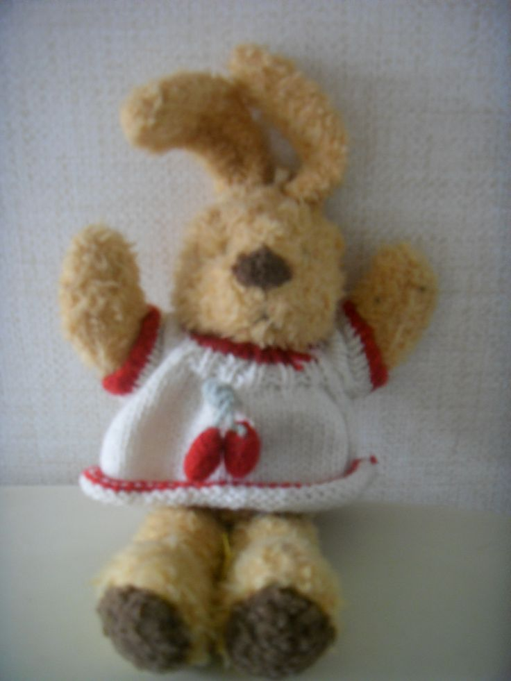 2016.1.1. Rabbit doll from elementary school days. Ocher color and wears berry sweater.