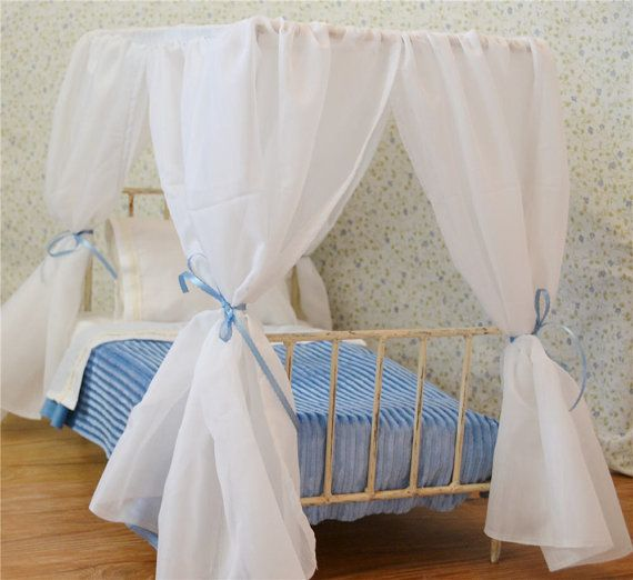 American Girl Canopy Bed Canopy Doll Bed Victorian by bonnyblue2, $169.99