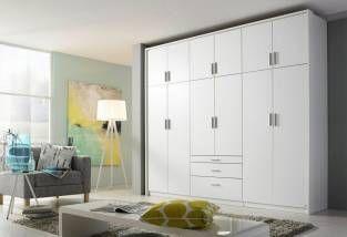 rauch PACK`S Kleiderschrank, weiß, Breite 270 cm, 6-türig, ohne Aufbauservice, ohne Aufbauservice, weiß