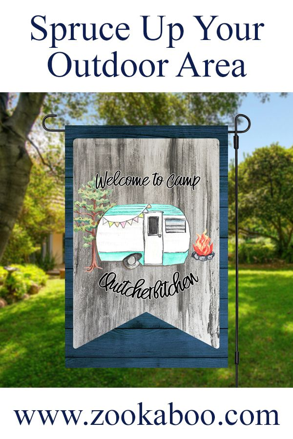 Welcome To Camp Quitcherbitchen Yard Flag In 2020 Garden Flags Flag Stand Yard Flags