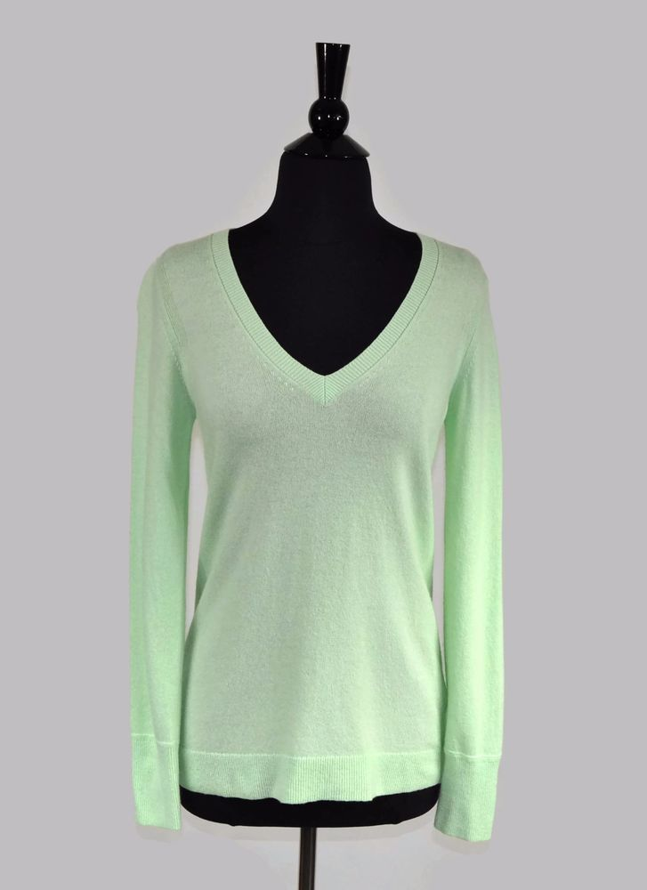 Banana Republic Mint Green Filpucci Wool Cashmere Women\u0027s Pullover Sweater  Sz XS