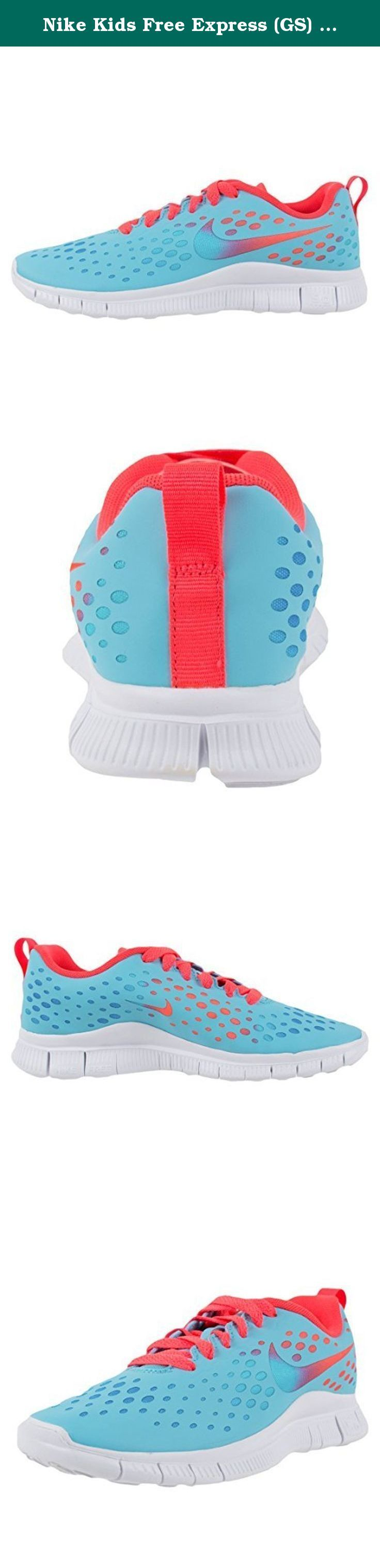 Nike Kids Free Express (GS) Running Shoe-Polarized Blue/Laser Crimson-5.5. Model Number: 641866400 Color: POLARIZED BLUE/POLARIZED BLACK-LASER CRIMSON-VV WHITE Made In: Indonesia Brand New With Original Box.