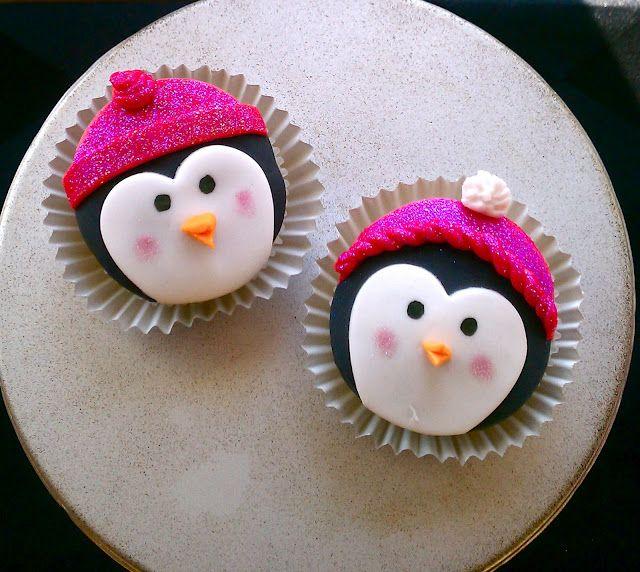 Buttercream Blondie: Flirt With Desserts » Blog Archive » Penguin Cupcakes