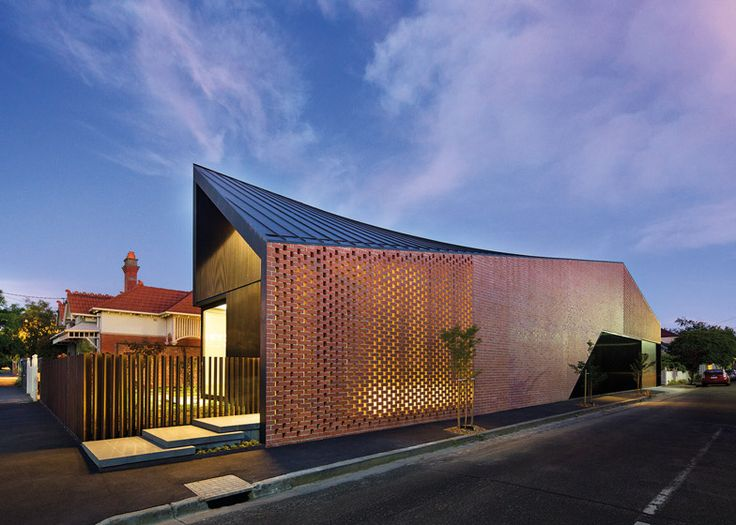 Harold Street Residence by Jackson Clements Burrows has a twisted roof